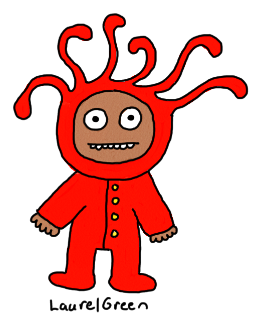 a drawing of a person wearing some bizarre long johns