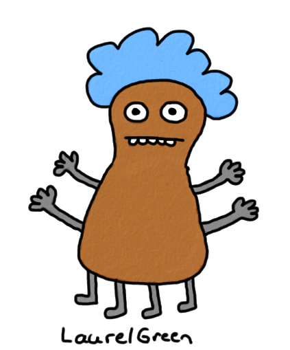 a drawing of a brown creature with lots of arms and legs