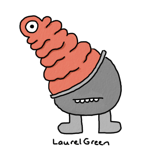 a drawing of a gross creature that looks a bit like intestines
