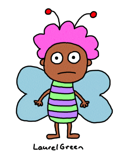 a drawing of a guy fairy