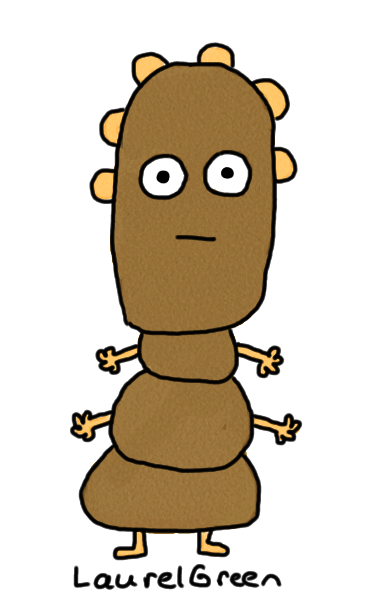 a drawing of a guy made of potatoes