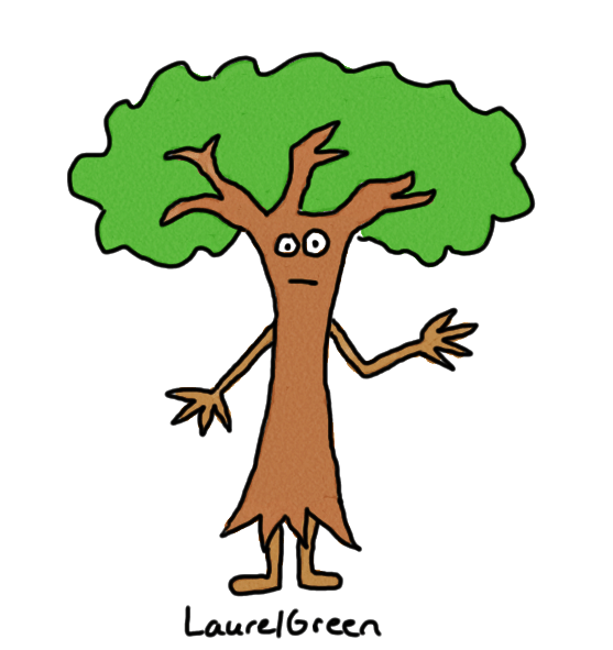a drawing of an anthropomorphized tree