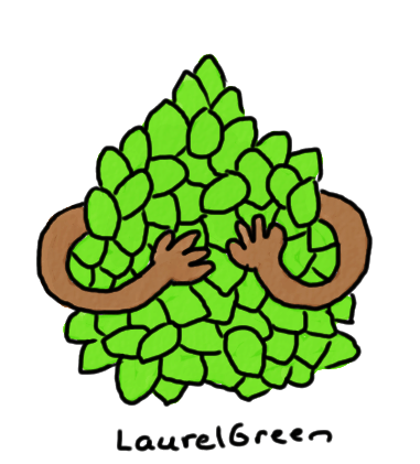 a drawing of some arms holding a bunch of limes