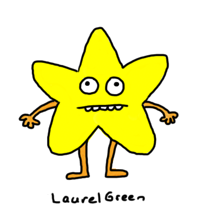 a drawing of a star guy