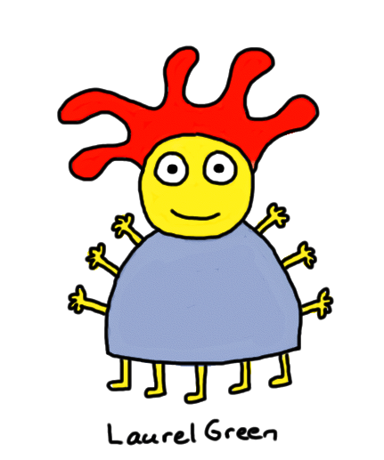 a drawing of a guy with lots of arms and legs