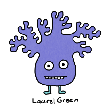 a drawing of a creature with a lumpy head