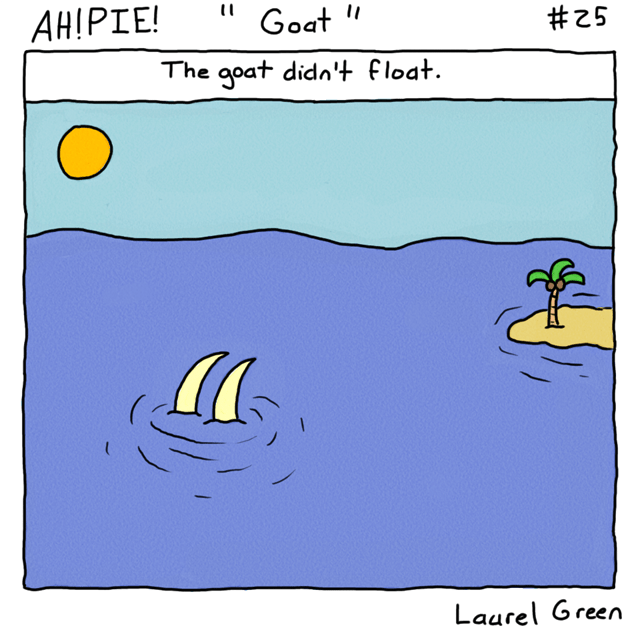 a comic about a sinking goat