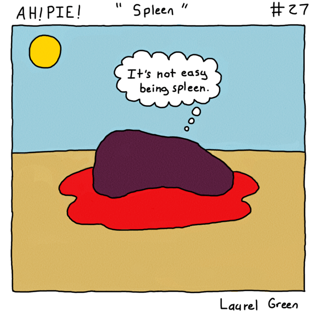 a comic about the hardships of a spleen