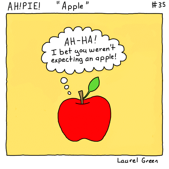 a comic about a surprising apple
