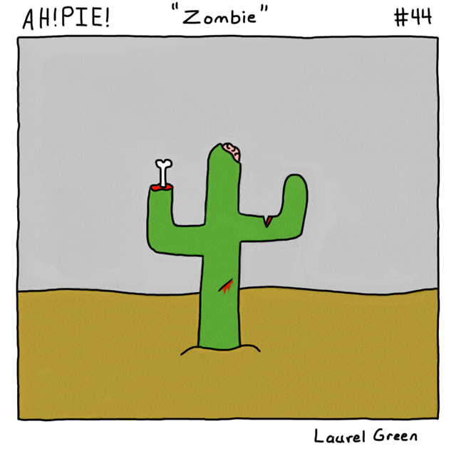 a comic about an undead cactus