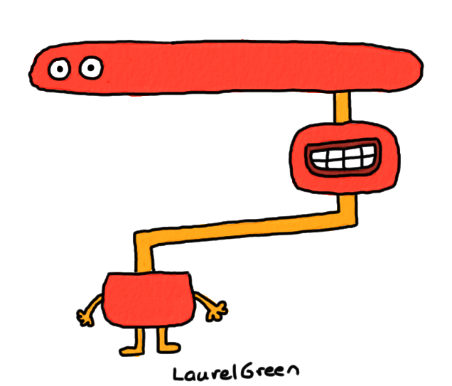 a drawing of a discombobulated being