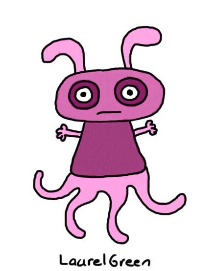 a drawing of a weird thing