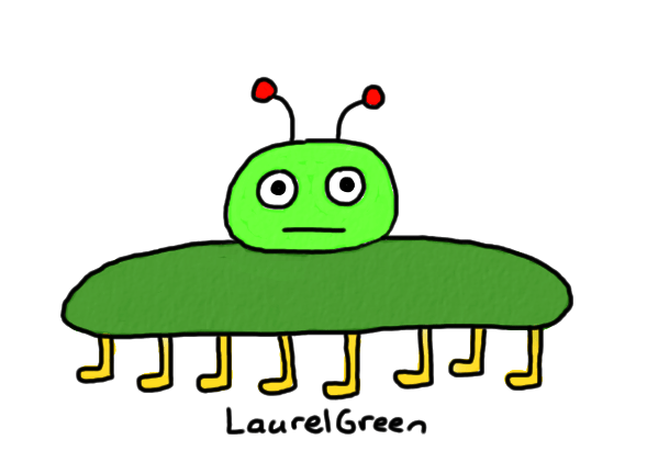 a drawing of a flat bug