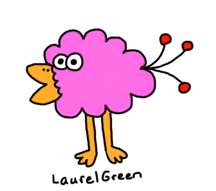 a drawing of a fluffy bird