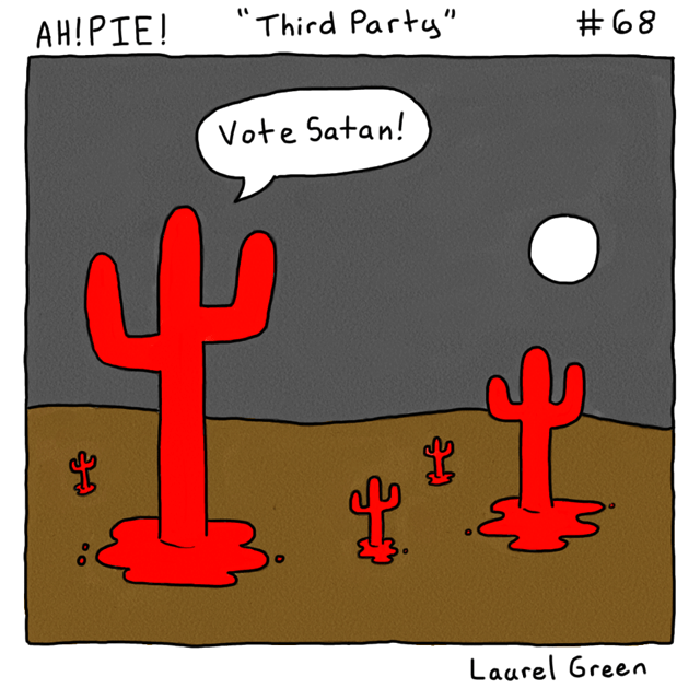 a comic about satanic cacti