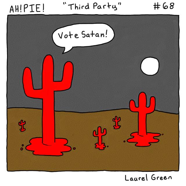 a comic about satanic cacti