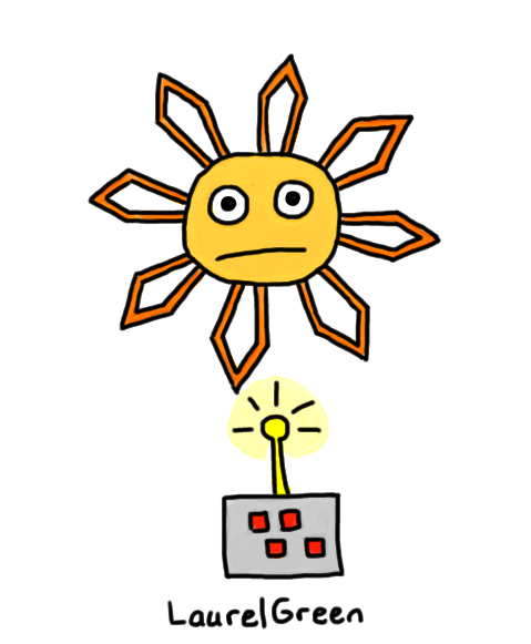 a drawing of a weird floating star thing