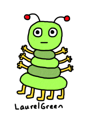 a drawing of a bug with too many limbs