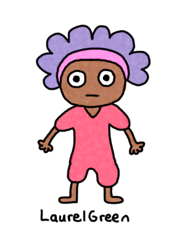 a drawing of a person wearing a pink romper