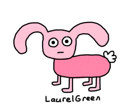 a badly-drawn rabbit