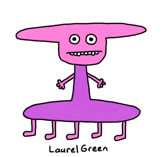 a drawing of a wide creature