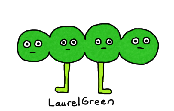 a drawing of some peas