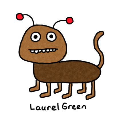 a drawing of a cross between bug and a dog