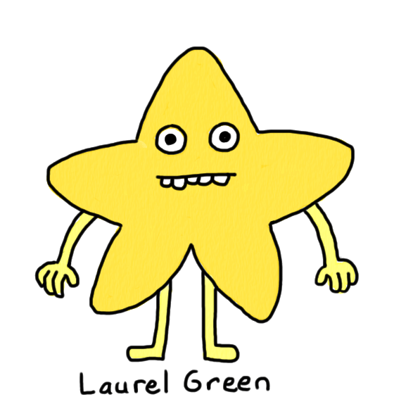 a drawing of an anthropomorhpic star