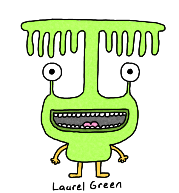 a drawing of a creature with a weird protuberance over their eyes