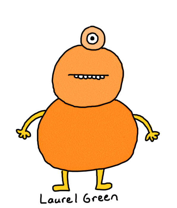 a drawing of a monster made of oranges