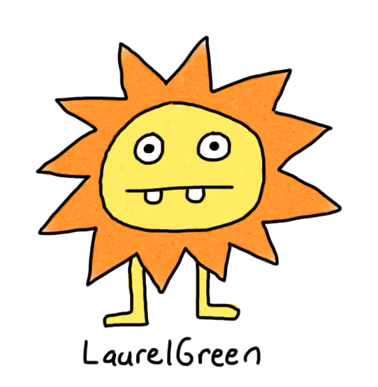 a drawing of a sun critter