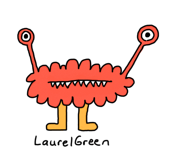 a drawing of a critter with fangs