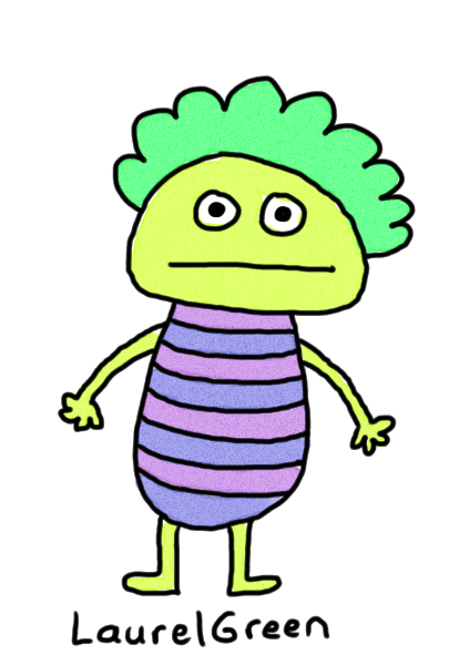 a drawing of a person with stripes on their body