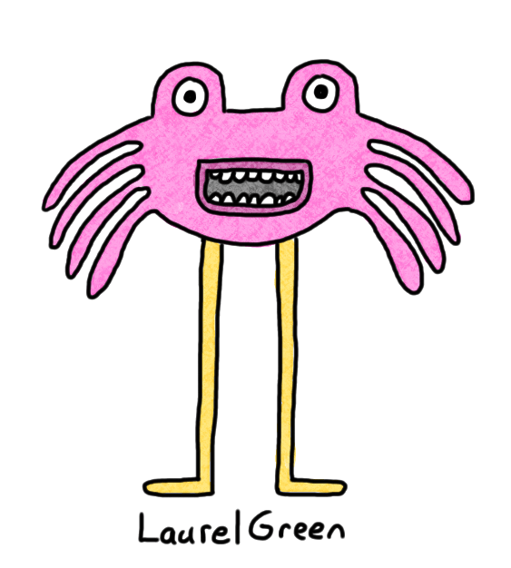 a drawing of a long-legged critter