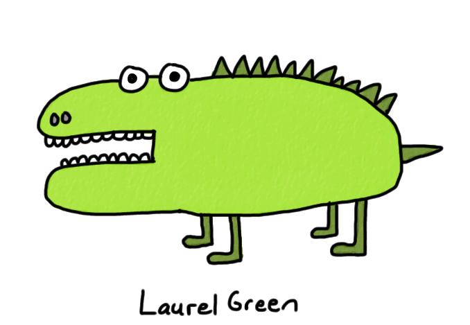 a badly-drawn lizard