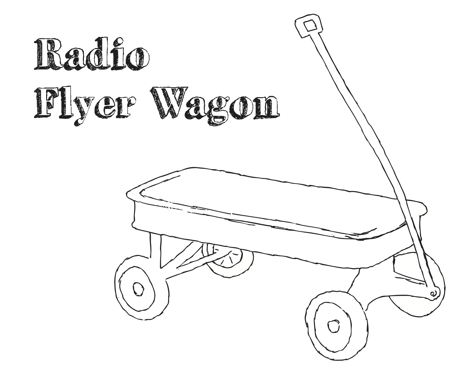 Wagon Coloring Sheet Coloring Pages