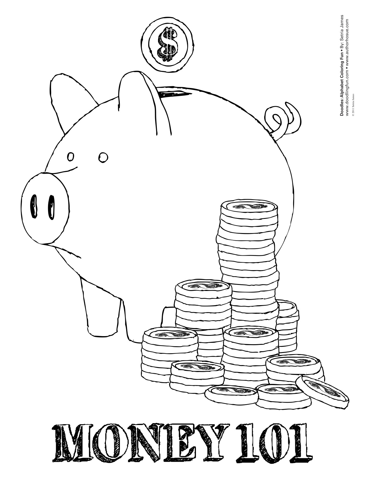 Money Coloring Worksheets