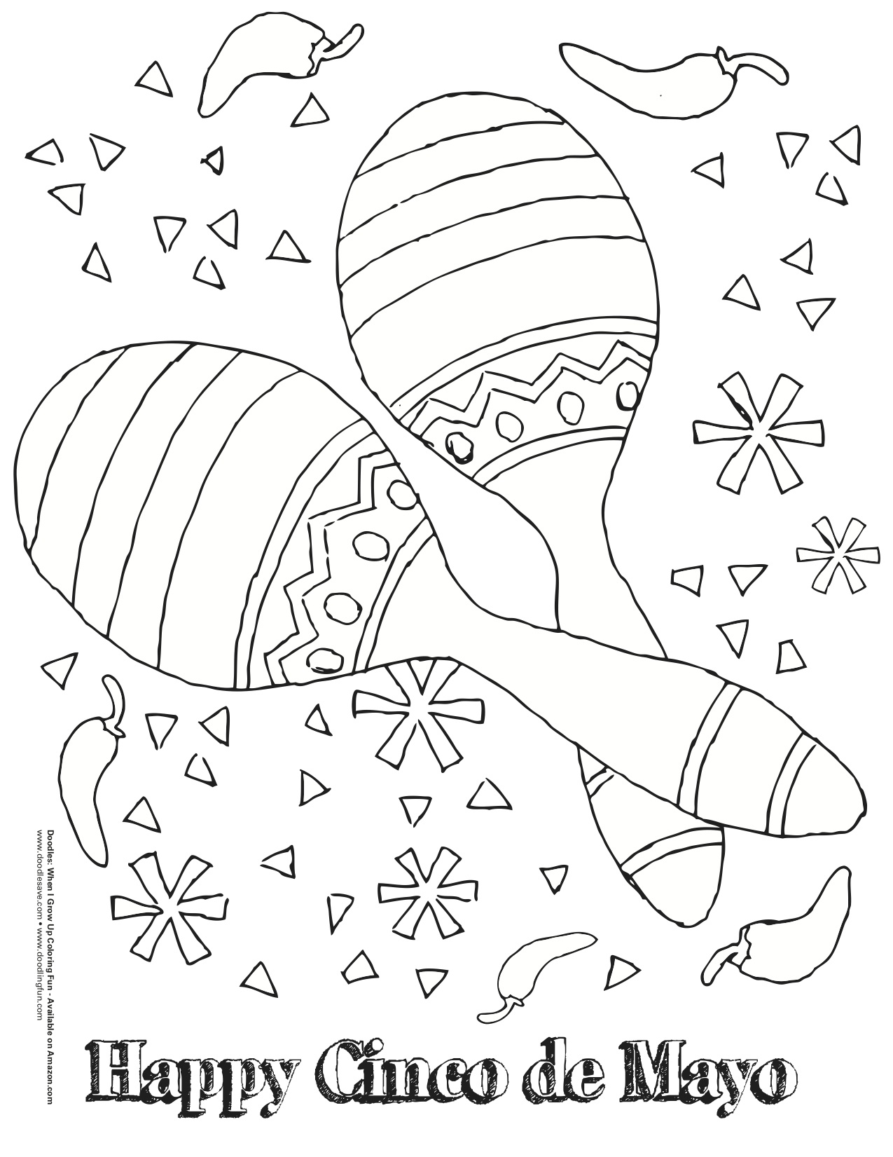 Cinco De Mayo Coloring Fun