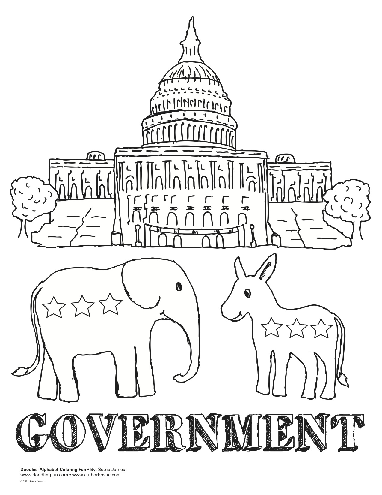 Us Government Coloring Sheet