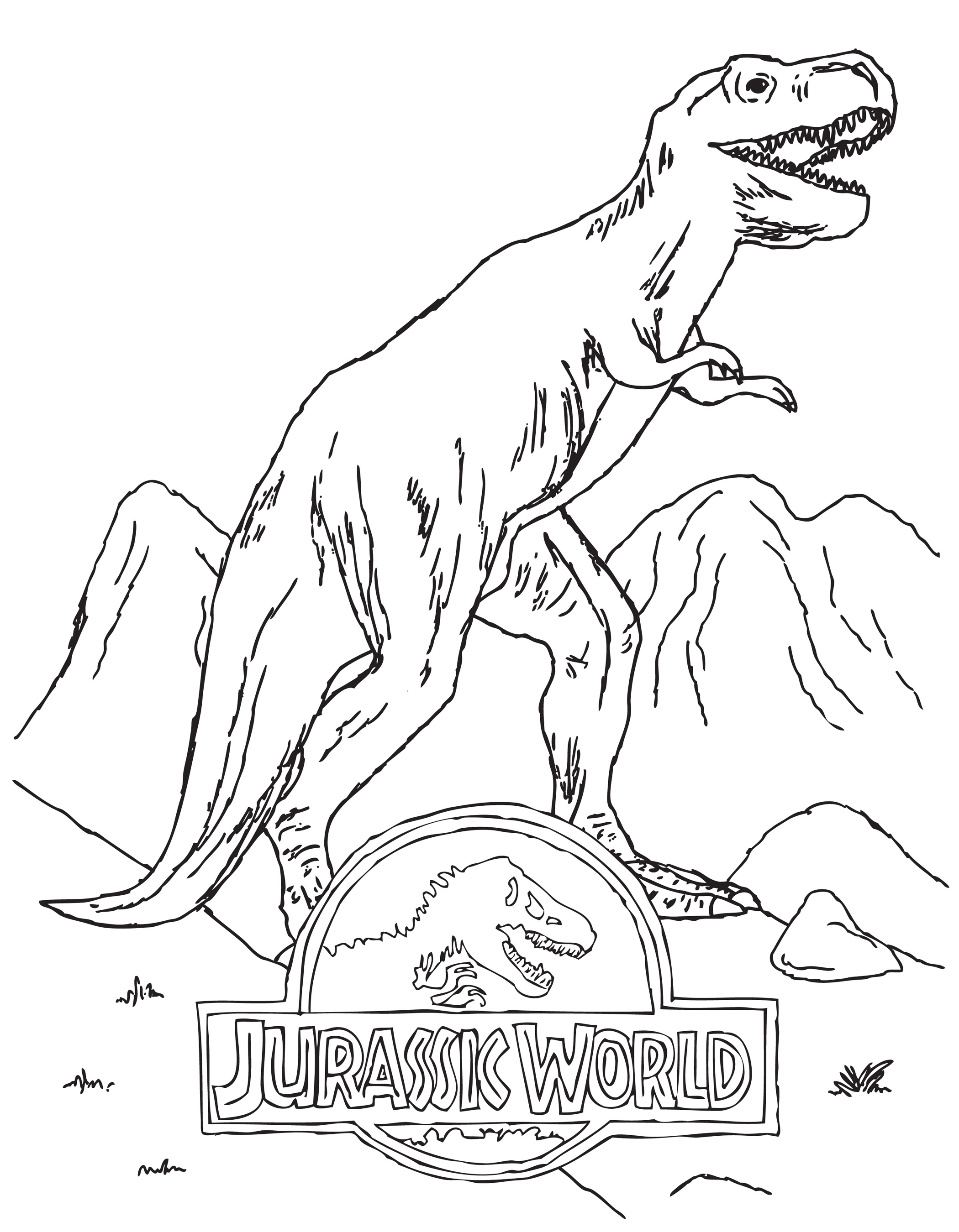 Jurassic World Dinosaur Coloring Pages
