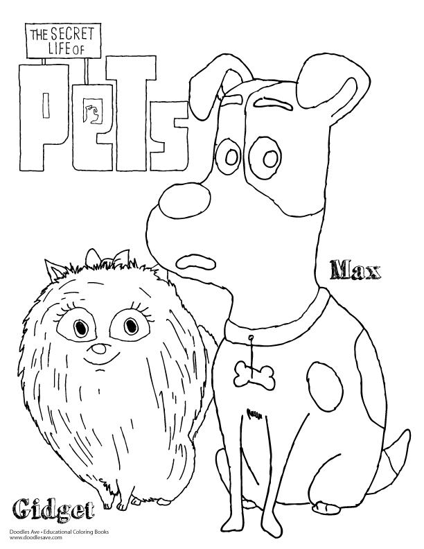Secret life of pets, Secret life and Coloring pages on