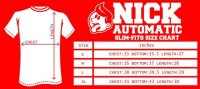 Size Chart ( Nick Automatic ) - The Tee Crumble
