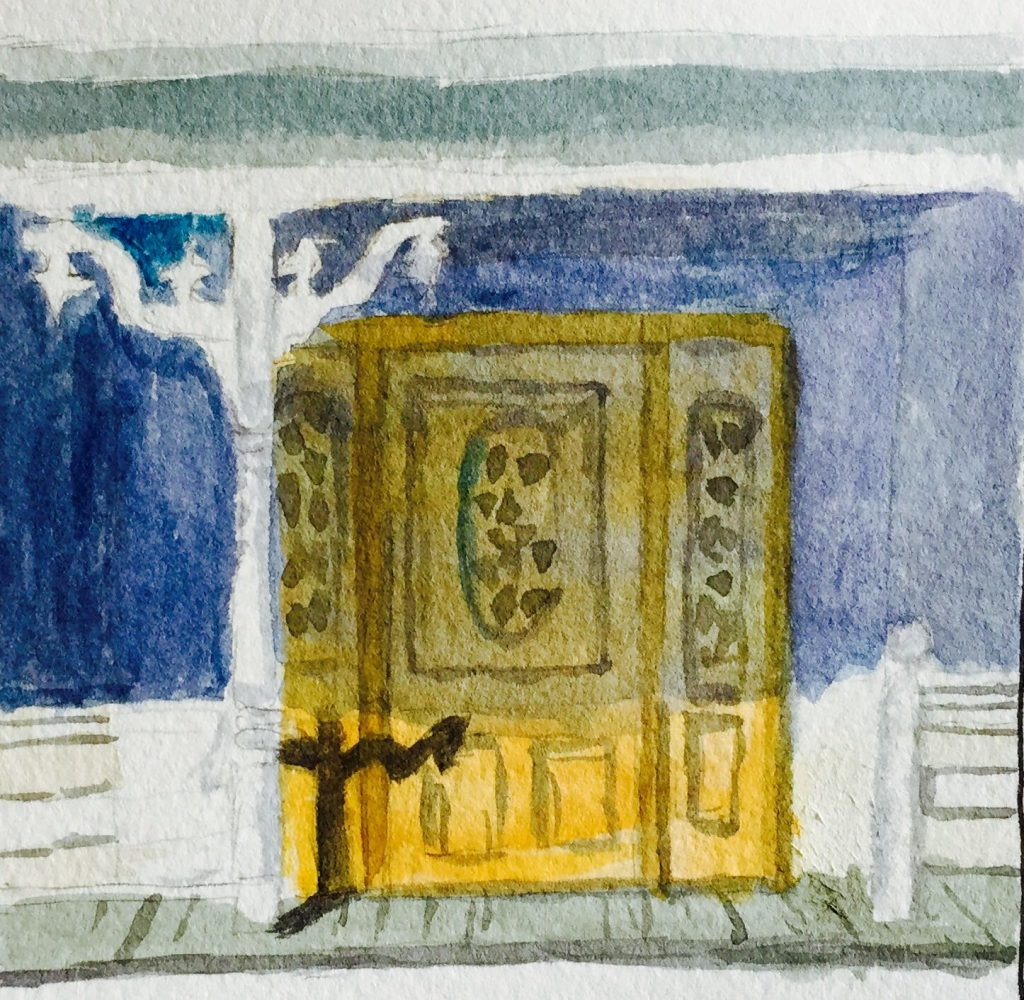 Watercolor Painting Door Of House Doodlewash
