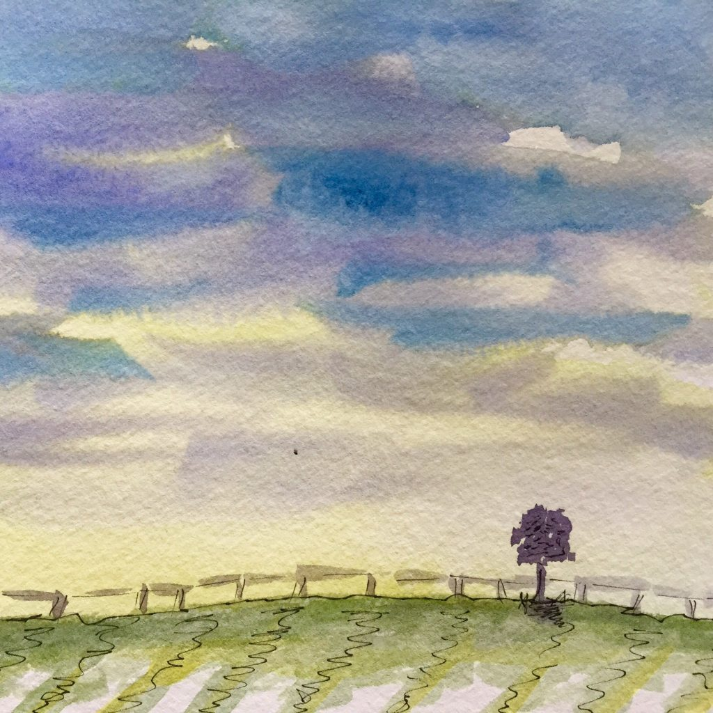 Watercolor Landscape Practice Doodlewash