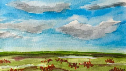 Hot Press Watercolor Paper Painting Test