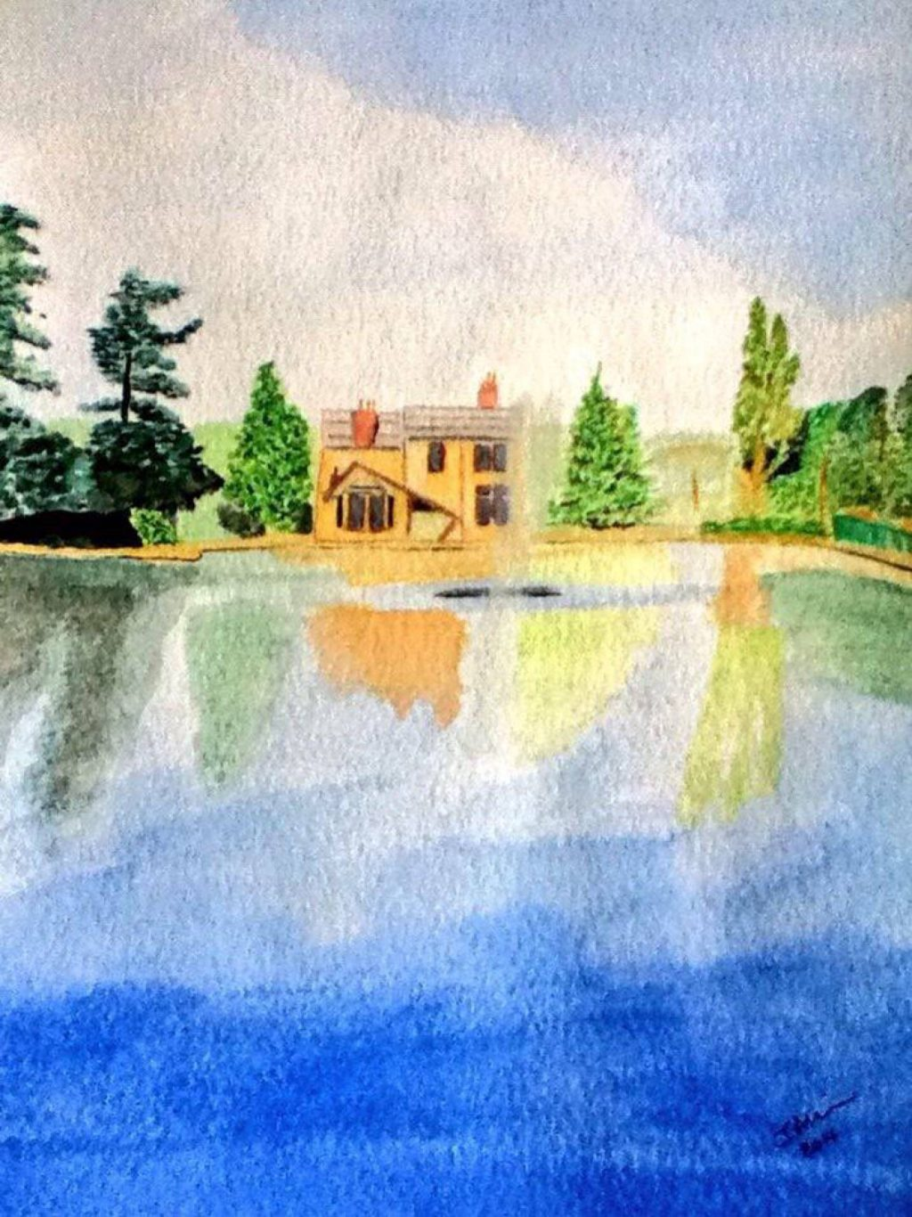 Papplewick Pumping Station, UK Watercolor Painting