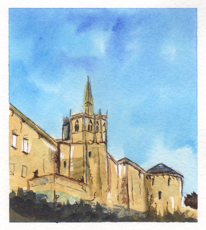 Chapelle Saint-Hubert Watercolor Painting