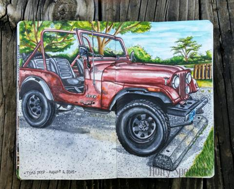Tim's Jeep by Holly Spencer