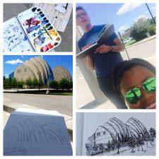Urban Sketching - Watercolor Sketching at Kauffman