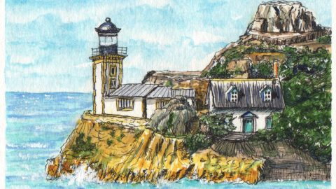Lighthouse In Brittany Doodlewash